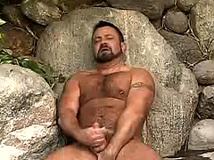 Marc Angelo jerking off his big fat cock. Posted by: Pantheon Bear