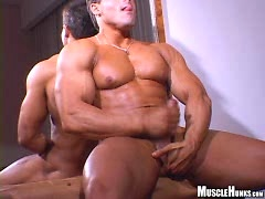 Bodybuilder jacking off his cock. Posted by: Muscle Hunks