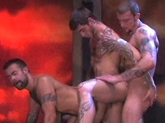 Logan McCree, Ricky Sinz and Steve Cruz threesome fuck. Posted by: Hairy Boyz