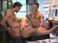 Hot cocky boys Mason Star, Tommy Defendi and Phenix Saint fucking. Posted by: Cocky Boys