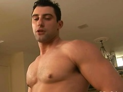 Muscle stud Nick Torretto plays with his cock. Posted by: College Dudes