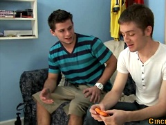 Two hot college buddies AJ Banks and Tristan Sterling fuck. Posted by: Circle Jerk Boys