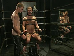 Christian Wilde fucks Zach Alexander tied up and suspended.. Posted by: Bound Gods
