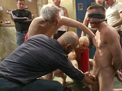 Ex-Military gets fucked in the crowded locker room. Posted by: Bound in Public