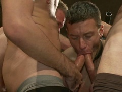 Adam Knox gets caught in a cum fest. Posted by: Bound in Public