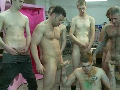 Straight stud's butthole gets violated by the Gay Mafia in the paint shop.. Posted by: Bound in Public