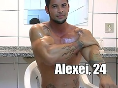 Muscle latin hunk Alexei jerking off dick. Posted by: LucasKazan