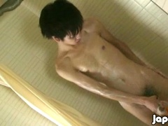 Mitsuru Wanks & Fingers Himself in the Shower in. Posted by: Japan Boyz