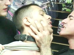 Latin hunk gets double penetrated at Folsom Gulch porn store.. Posted by: Bound in Public