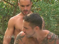 Boyfriends Jonathan Agassi and Issac Jones Make Passionate Love outdoors. Posted by: Lucas Entetainment