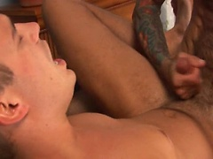 Hairy muscle man Nick Moretti fucks Ryan Raz. Posted by: Men Over 30