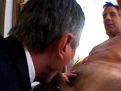 Silver daddy Brent V. Rides Jay Taylor. Posted by: Hot Older Male