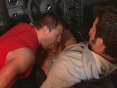 Muscle hunk fucked in a car. Posted by: Falcon Studios