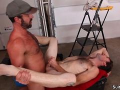 Chris Baldwin and Dodger Wolf. Posted by: Men Hard at Work