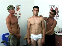 Army boy and his buddy get into a hot threeway in the doctor's office.. Posted by: College Boy Physicals