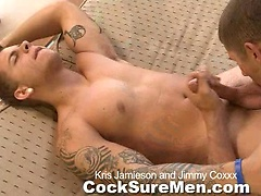 Kris Jamieson and Jimmy Coxxx - cock riders. Posted by: Cocksure Men