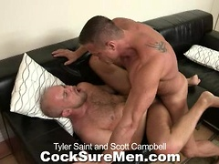 Tyler Saint and Scott Campbell - foot massage and fuck. Posted by: Cocksure Men