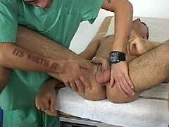 College boy gets massaged by doctor.. Posted by: College Boy Physicals