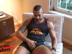 Caio jacking off dick. Posted by: Alpha Male Fuckers