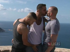 Jonathan Agassi, Will Helm, and Kriss Aston's Threesome in Ibiza. Posted by: Lucas Entetainment