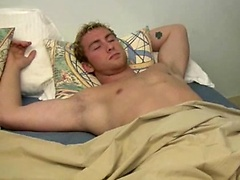 Hot blond boy gets jerked off while sleeping.. Posted by: Boy Gusher