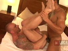 Latin Hunk Lucio Saints Pounds Kriss Aston's Ass. Posted by: Lucas Entetainment