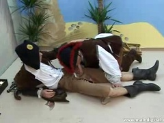 Cute pirate studs enjoying some hot bareback anal fucking. Posted by: Male Digital