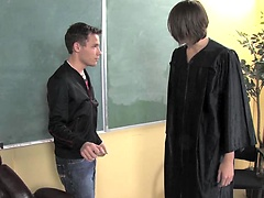 Twink Spencer and his see-through gown charm teacher into sex. Posted by: TeachTwinks