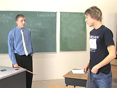Angry teacher spank student and penetrate his tight ass for misbehaving. Posted by: GayLifeNetwork