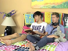 Jae Landen and Keith Conner are just friends hanging out on Jae\'s bed. When an innocent conversation turns into a nasty verbal fight a passionat. Posted by: GayLifeNetwork