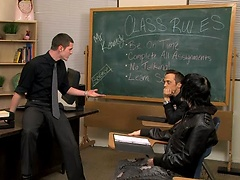A teacher puts his twink student up on his desk and blows him.. Posted by: GayLifeNetwork