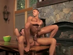 Spencer Fox gives Micah Brandt the ride of his life,very hot. Posted by: Jocks Studios