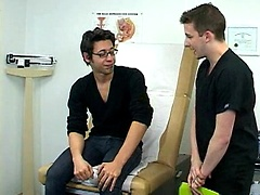 Nelson gets examed by the doctor. What will happen next?. Posted by: College Boy Physicals