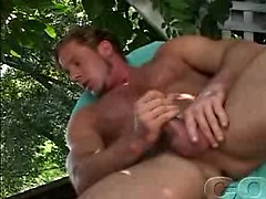 Hot blonde dude cummin' after a nice masturbation session. Posted by: Colt Studio