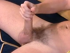 Horny Owen masturbates his cock after an interview !. Posted by: Jocks Studios