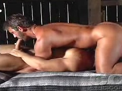 Horny gay couple can't wait to fuck so they do it in a barn. Posted by: Colt Studio